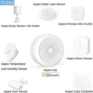 Image 1 - AQARA Smart Home Kits Gateway Hub Tür Fenster Shock Sensor Körper Sensor Drahtlose Schalter Wasser Sensor für Apple Homekit