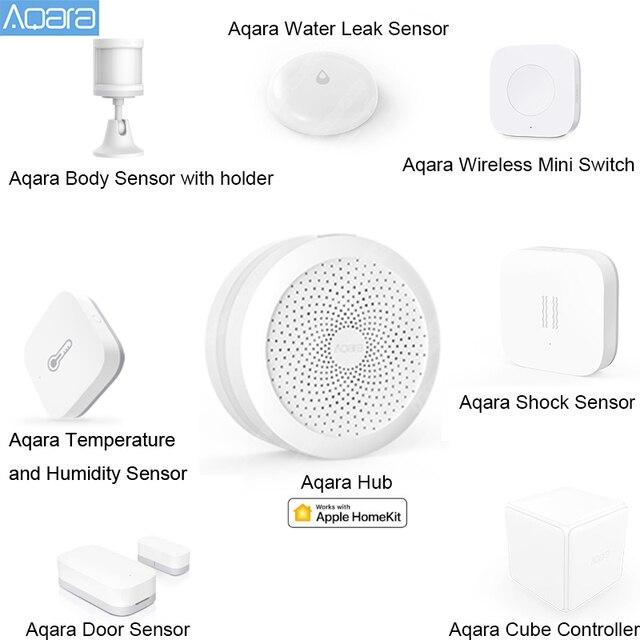 AQARA Smart Home Kits Gateway Hub Tür Fenster Shock Sensor Körper Sensor Drahtlose Schalter Wasser Sensor für Apple Homekit