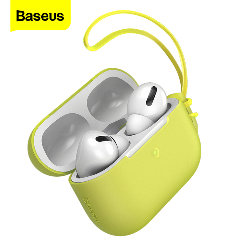 Baseus Luxury Lanyard Case For Airpods Pro 3 Silicone Wireless Protective Cover For Apple Air Pods Pod Pro Anti-lost Coque Funda