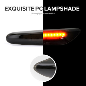 Image 5 - 1 زوج سيارة بدوره أضواء الإشارة LED بدوره مؤشر الوامض مصباح مصباح إشارة علامة الجانب لسيارات bmw E90 E91 E92 E93 E60 E87 E82 E46