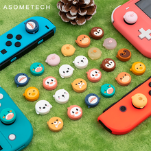 4PCS Cute Animal Design Thumb Grip Caps Joystick Cap for Nintendo Switch Lite Soft Silicone Cover for Switch Joy-Con Controller