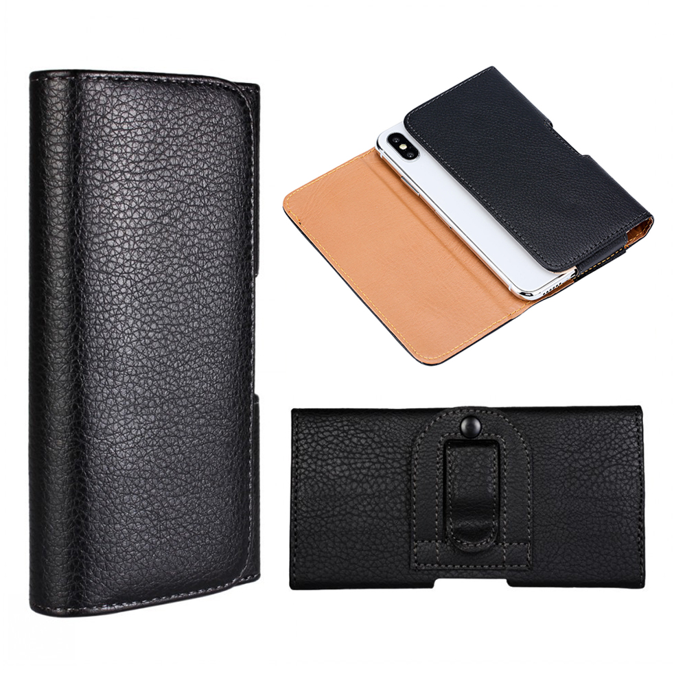 Belt Clip Phone Case for Gigaset GX290 Haier Titan T3 PU Leather Flip Holster Cover for Ginzzu RS8502 RS9602 Elephone Soldier(China)