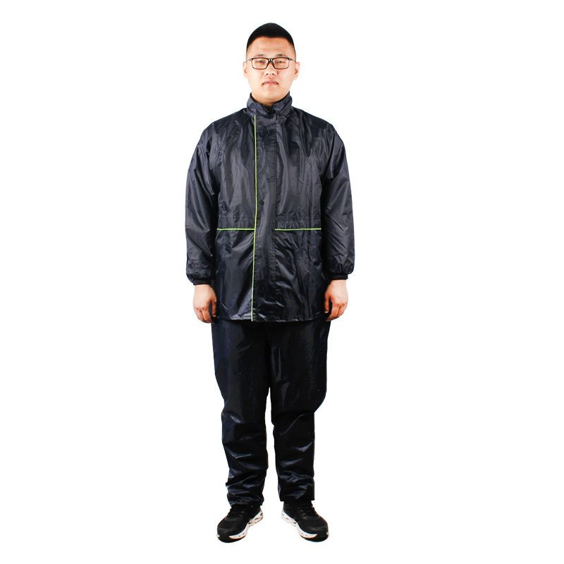 Lulong 3520 Double Layer Thick Split Type Raincoat And Rain Pants Set Front And Back Reflective Strips Flood Control China Flood