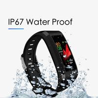 Z GPS 118 Plus inteligentny smartwatch na rękę Monitor snu prognoza pogody inteligentna bransoletka wodoodporna inteligentny zespół Fitness tracker w Inteligentne opaski od Elektronika użytkowa na