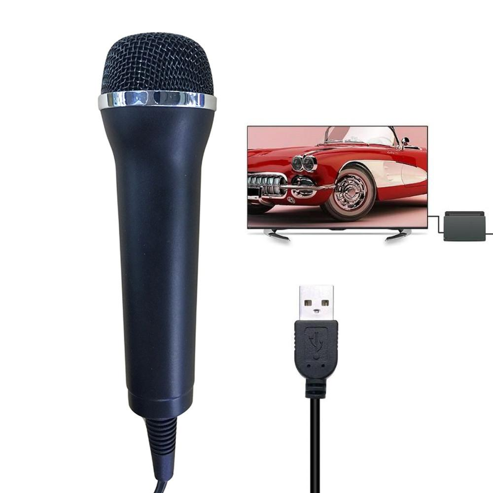 USB Wired Microphone High Performance Gamepads Karaoke MIC For PS4 For Wii For XBOX360 New