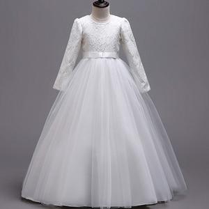 Image 4 - 長袖フラワーガールのドレス初聖体ドレス女塩漬け糸誕生日ドレスパーティーイブニングドレス