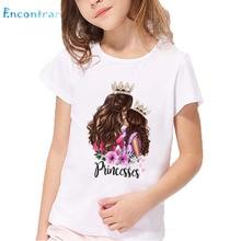 Kids T-Shirt Daughter Princess-Print Super-Mom Boys/girls Children Summer And Vogue Ohkp5281