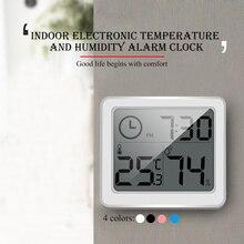 1 шт. термометр гигрометр ультра-тонкий многофункциональный автоматический электронный Температура Влажность монитор часы большой ЖК-экран