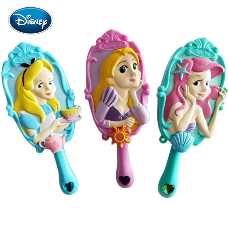 Disney Cartoon Comb 3D Princess Air Cushion Massage Comb Girl Princess Shape Comb Antistatic Airbag Comb