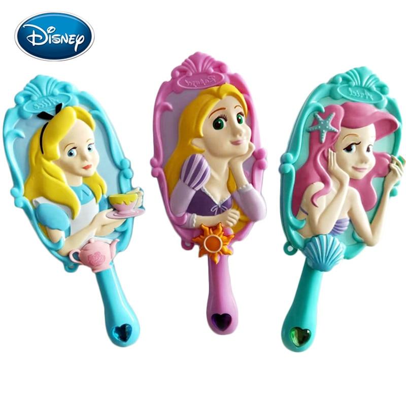 Disney Cartoon Comb 3D Princess Air Cushion Massage Comb Girl Princess Shape Comb Antistatic Airbag Comb