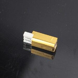 Image 2 - MPS HD 019 HiFi USB 2.0 אודיו מחבר תקעים טהור נחושת אודיו שקע מחבר 24K 5u זהב מצופה DAC USB 2.0 מחבר סוג B