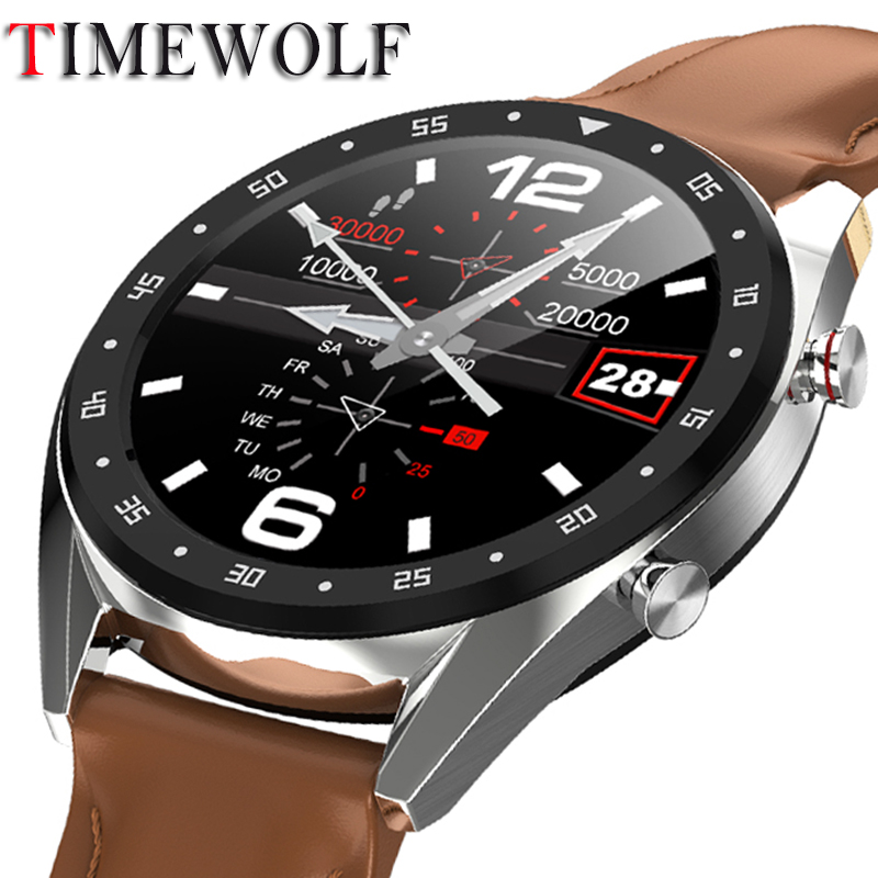 Timewolf Smart Watch IP68 ECG PPG Bluetooth Call Smartwatch Blood Pressure Oxygen Smart Watch for Android Phone Iphone IOS