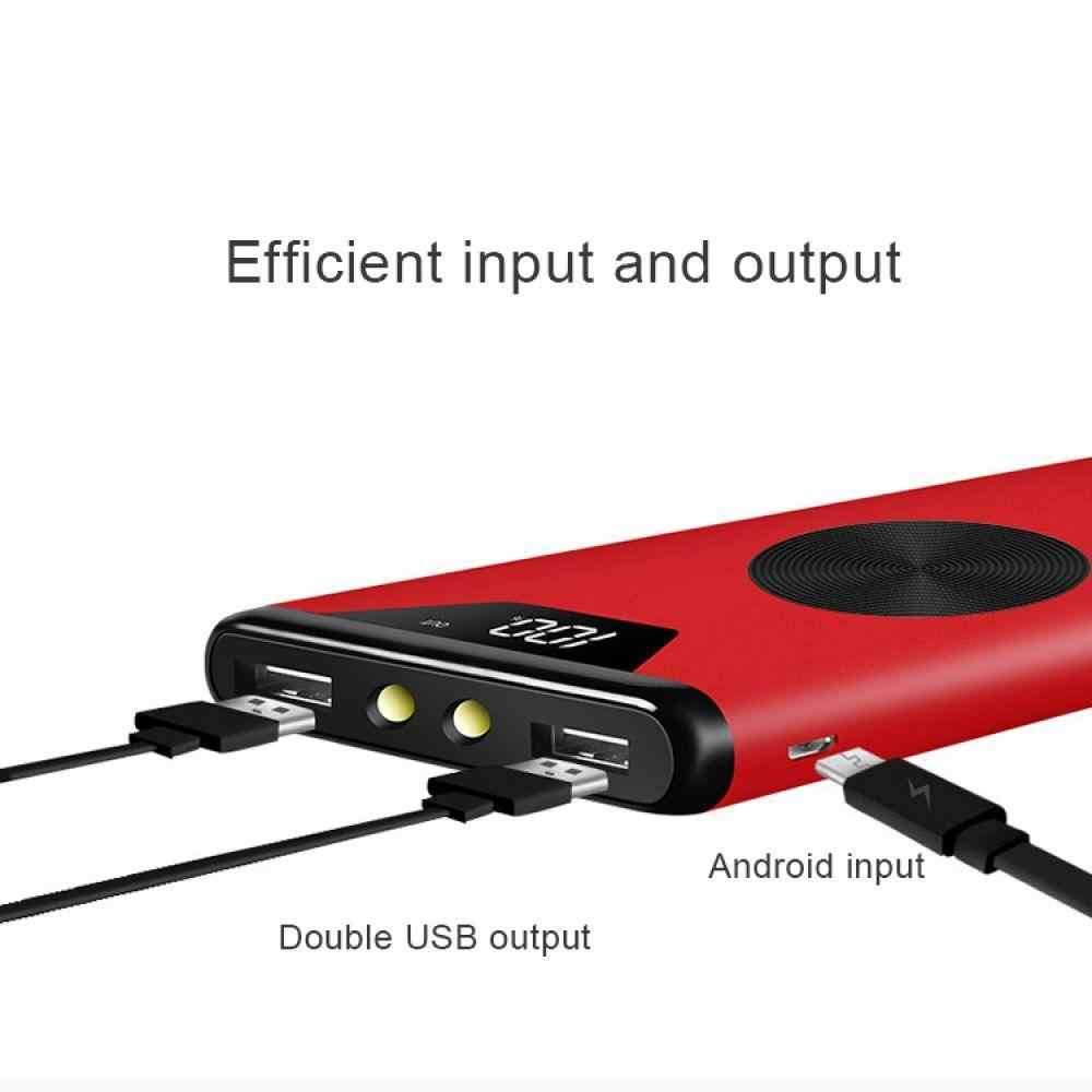 Nirkabel 30000 MAh Power Bank Charger Digital Display Universal Powerbank First Power 18650 Baterai untuk Xiaomi iPhone