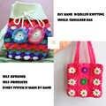 Meowka DIY mano de lana de tejer/bolso de un solo hombro/artesanías del ganchillo/bolso de la muchacha de moda/flores/vieiras/ondulado