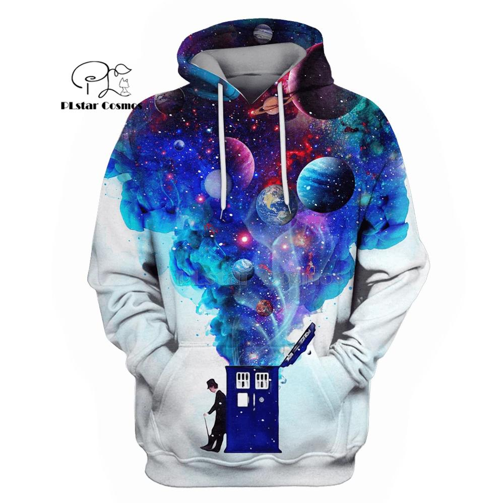 PLstar Cosmos Doctor who with planets space sky 3d hoodies/shirt/Sweatshirt Winter autumn funny Harajuku Long sleeve streetwear