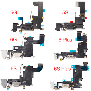1pcs USB Charging Dock Jack Plug Socket Port Connector For iPhone 5 5S 6 6S Plus SE Charger Data Flex Cable