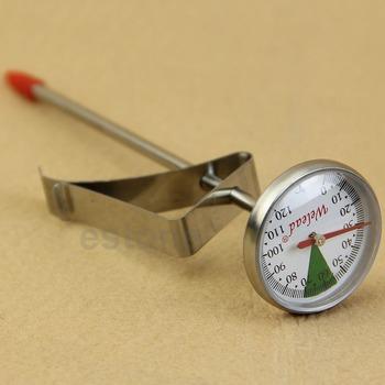 Natychmiastowy odczyt ze stali nierdzewnej do kuchni do jedzenia gotowanie kawa z mlekiem sonda Thermomete tanie i dobre opinie 37456 Termometry kuchenne Gospodarstw domowych termometry Metal Dial