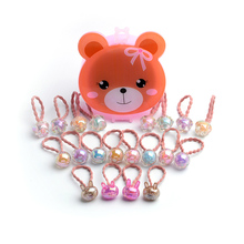 CHIMERA Children Elastic Hair Ties 20 Pcs Cute Candy Color Bands Rope Ring with Mirror Box Girls Ponytail Holder Accessory