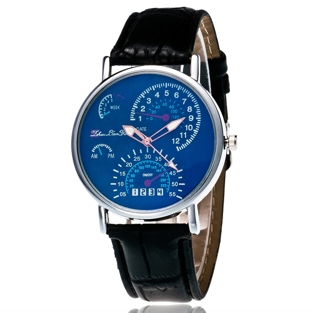 Classic Alloy Business Style Ladies Male Quartz Watches With Round Dial Leather Strap Casual Electronic Couple Watch  LL