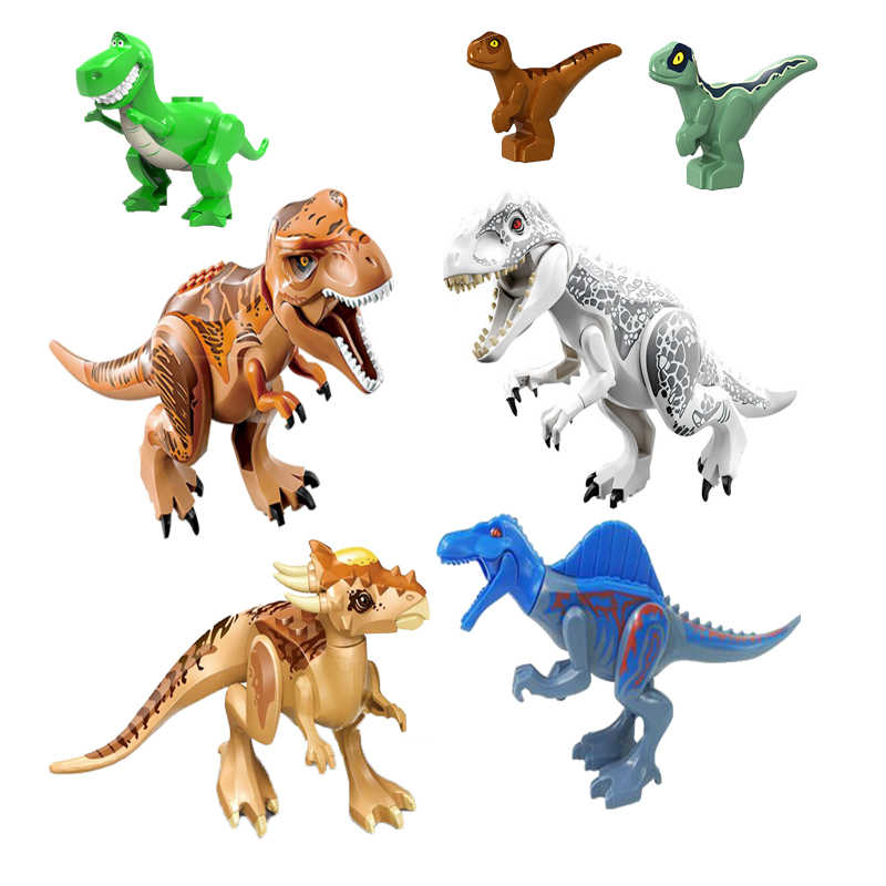 Building Block Dinosaur Animal Figures Crystal Bricks