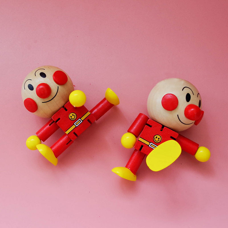 Wood Puzzle Toys Hundred Changes Cartoon Articulated Doll Gifts For Children Robot Training Of Practical Ability