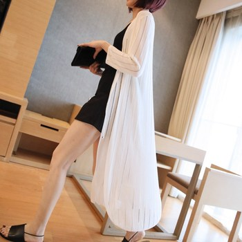 Loose-Fit Casual Mid-length Thin Sweater Shawl Coat Women's 2020 New Style Summer Three-quarter-length Sleeve Cardigan Sweater 2
