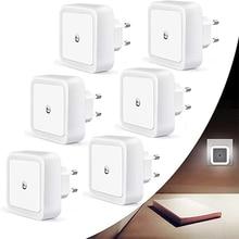 6 Pcs/Lot  Night Light Room Bedside Lamp LED White Smart Body Motion Sensor for Kids Home Hallway Pathway Toilet EU/US/UK/AU