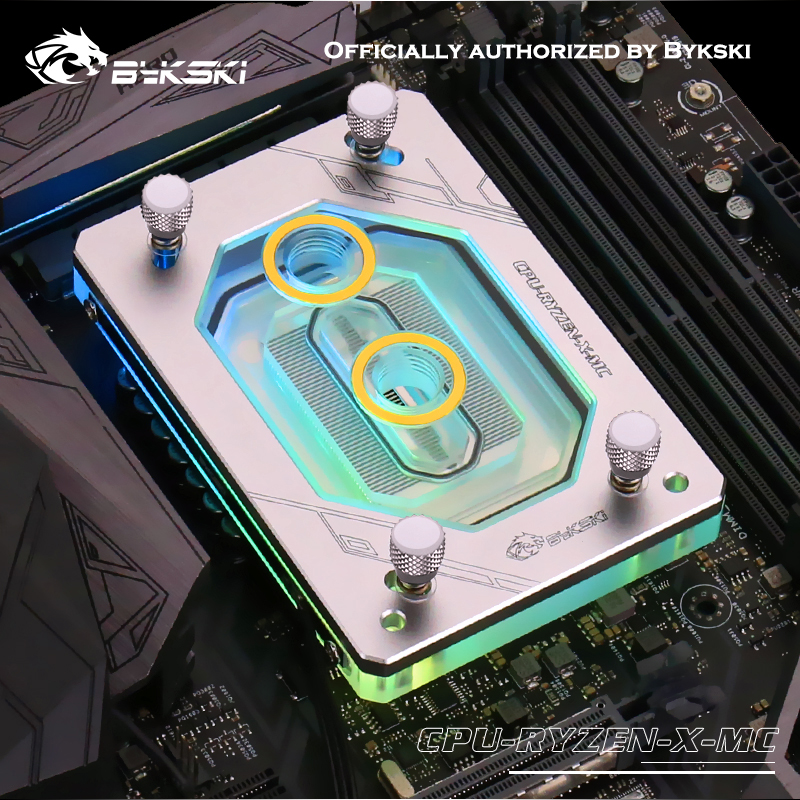 Bykski <font><b>CPU</b></font> Water Block <font><b>CPU</b></font>-RYZEN-X-MC for <font><b>AMD</b></font> RYZEN <font><b>AM3</b></font> <font><b>AM3</b></font>+ AM4 1950X TR4 X399 AURA support GND Water Cooling image
