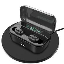 Fone de ouvido bluetooth handfree tws fones de ouvido sem fio com microfone jogos acessórios display led telefones música esporte