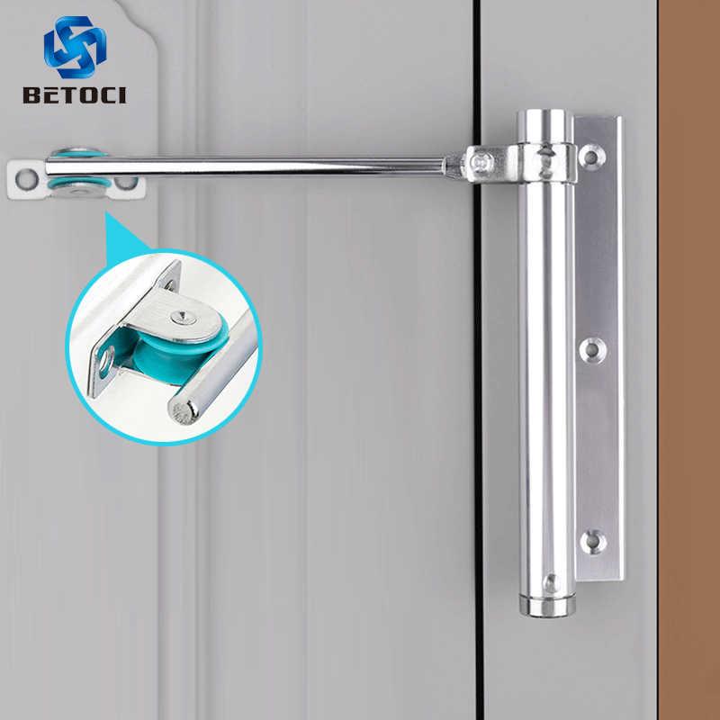 Color : 1303 Black LFDZSW Black Color Aluminum Alloy Hydraulic Door Closer 40kg-65kg Automatic Spring Mute Closing Fire-Proof Door Closer Speed Adjustable