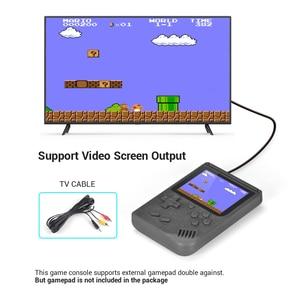 """Image 5 - Retro elde kullanılır oyun konsolu taşınabilir 8 Bit 400 1 klasik oyunları FC NES konsolu 3 """"monitör büyük ekran noel hediyeler"""