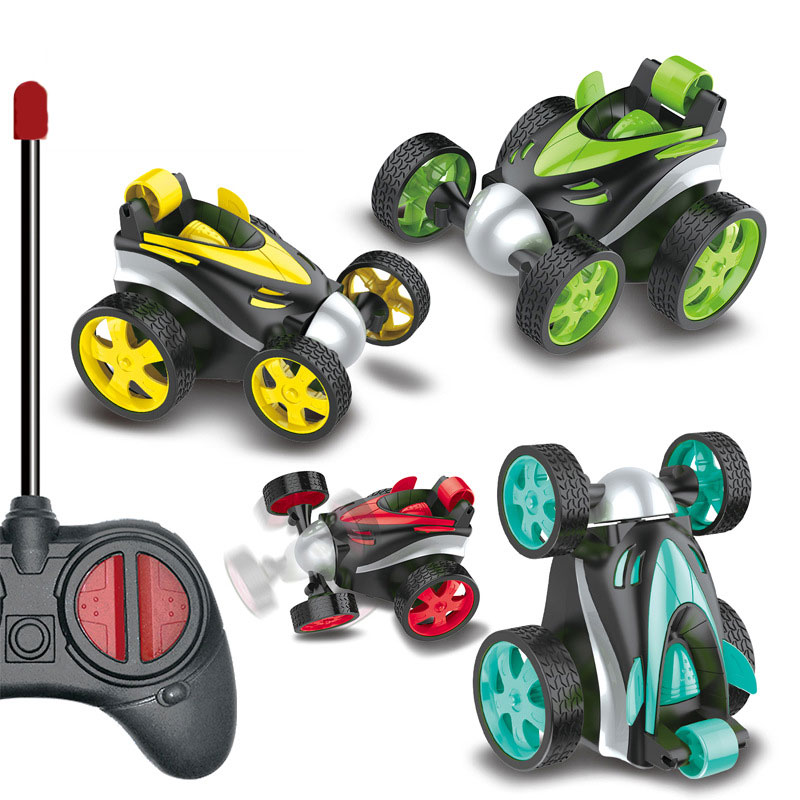 Remote Control Stunt Car Small Climbing Dump Off-Road Vehicle 360 Degree Rolling RC Toy Kids Toys Gifts for Children