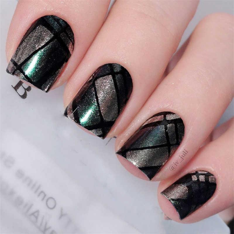 2 Pcs Chameleon Mirror Nail Glitter Powder Gradien Efek Metalik Pigmen Kuku Seni Dekorasi Uv Gel Poles Krom 1 Pc