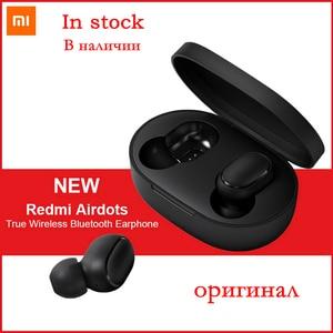 Xiaomi Original auriculares inalámbricos Redmi AirDots verdaderamente Bluetooth 5,0 Mini auriculares inalámbricos DSP Auto Cancelación de ruido auriculares