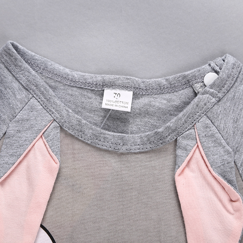 Hcad9d094bd3048e5b542320a5609fd09b Newborn baby cotton rompers lovely Rabbit ears baby boy girls short sleeve baby costume Jumpsuits Roupas Bebes Infant Clothes