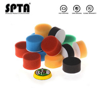 SPTA 2 inch(50mm) 20pcs Car Polishing Disc Flat Sponge Buffing Pads Self adhesive Polishing Waxing Pad Beauty Car Polishing Disk|Polishing Disc|Automobiles & Motorcycles -