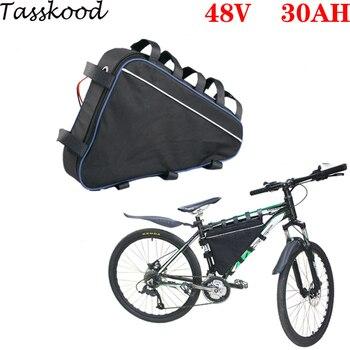 Triangular batería de bicicleta eléctrica 48v 30ah bafang ebike batería 48v 2000w...