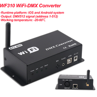 New Stage DJ Effect Lighting WiFi DMX Controller Controlled by Android or IOS System Wifi Multi Point Controller WF310