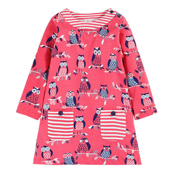 Jumping meters Girl Dress Kids Clothes Brand Autumn Princess Dress Baby Tunic Animal Appliques Girls Dresses Children clothes blouse tunic kids clothes children clothing