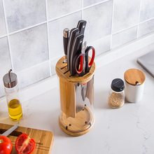Kitchen Tool Storage Rack Household Knife Holder High Borosilicate Glass Bamboo knife holder