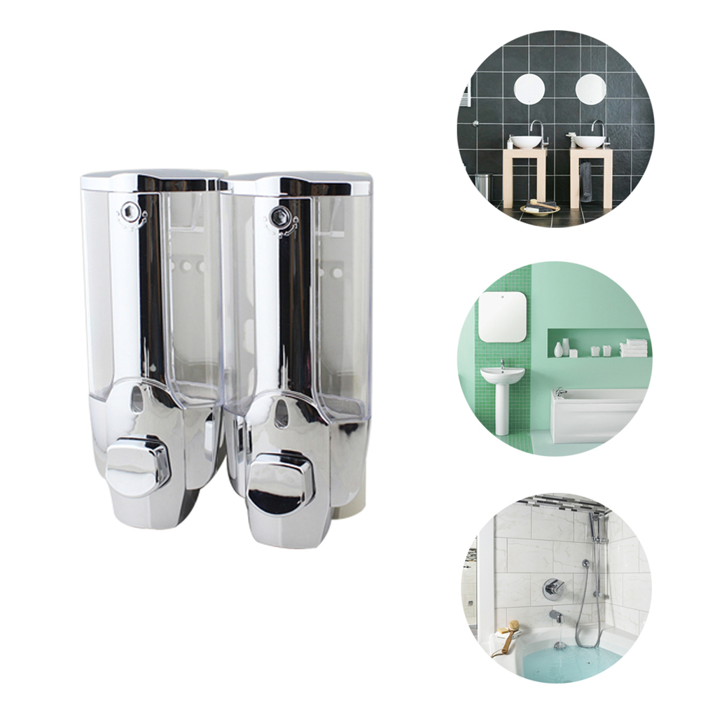 Wall Mount Soap Dispenser Double//Single-Head Manual Hand Shampoo Gel Dispenser$#