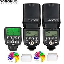YONGNUO YN 560 III Nikon Canon DSLR 용 YN560 TX II / RF 603 II 트리거 제어 장치가 장착 된 무선 마스터 플래시 스피드 라이트