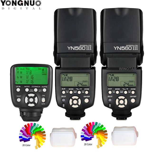 永諾yn 560 iiiワイヤレスマスターフラッシュスピードライトとYN560 TX ii/RF 603 iiトリガーcontrolle一眼レフ