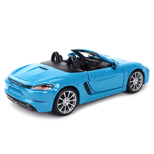 Image 3 - Bburago 1:24 Porsche 718 Boxster Sports Car Static Die Cast Vehicles Collectible Model Car Toys