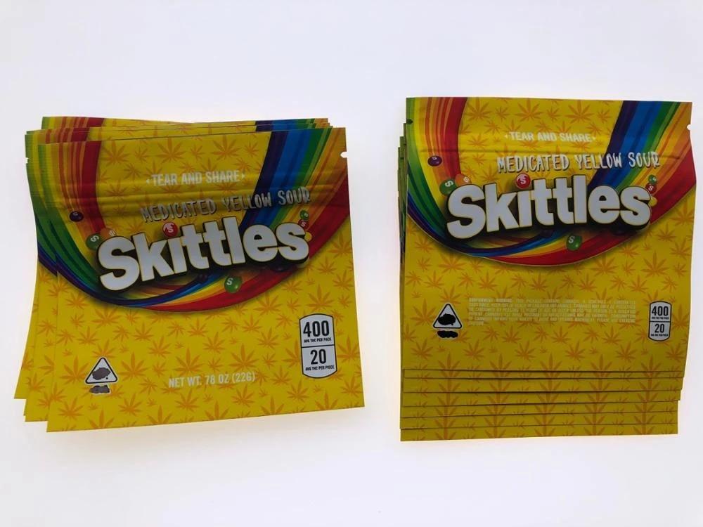 Sour Skittles Edible Medicated Mylar Bags 3.5 gram 32ct