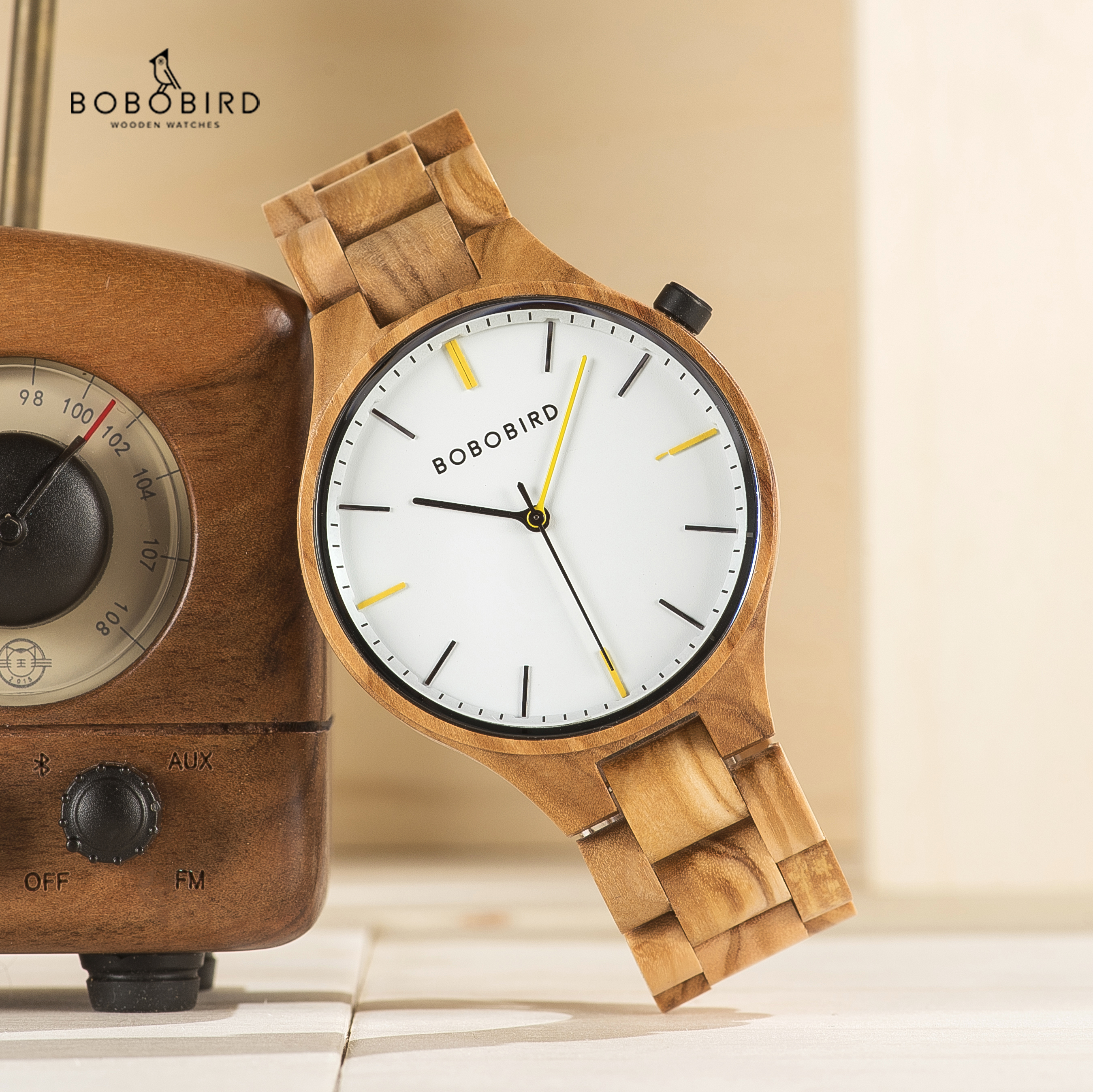 Men Watches BOBO BIRD Wood Casual Fashion Quartz Watches Gifts For Festival Engrave Dial Box