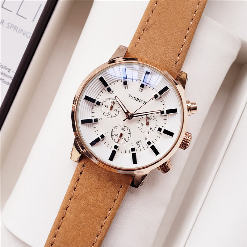 2020 Young Men's Trendy Fashion Six-pin Quartz Watch.AAAWATCH