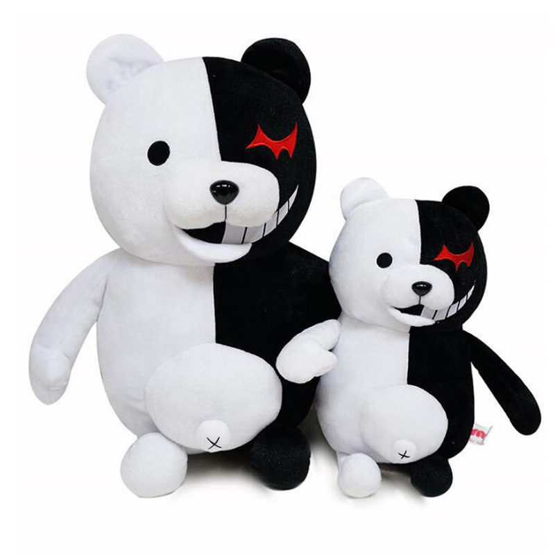35cm Dangan Ronpa Super Danganronpa 2 Monokuma Black & White Bear Plush Toy Soft Animal Stuffed Doll For Children Christmas Gift