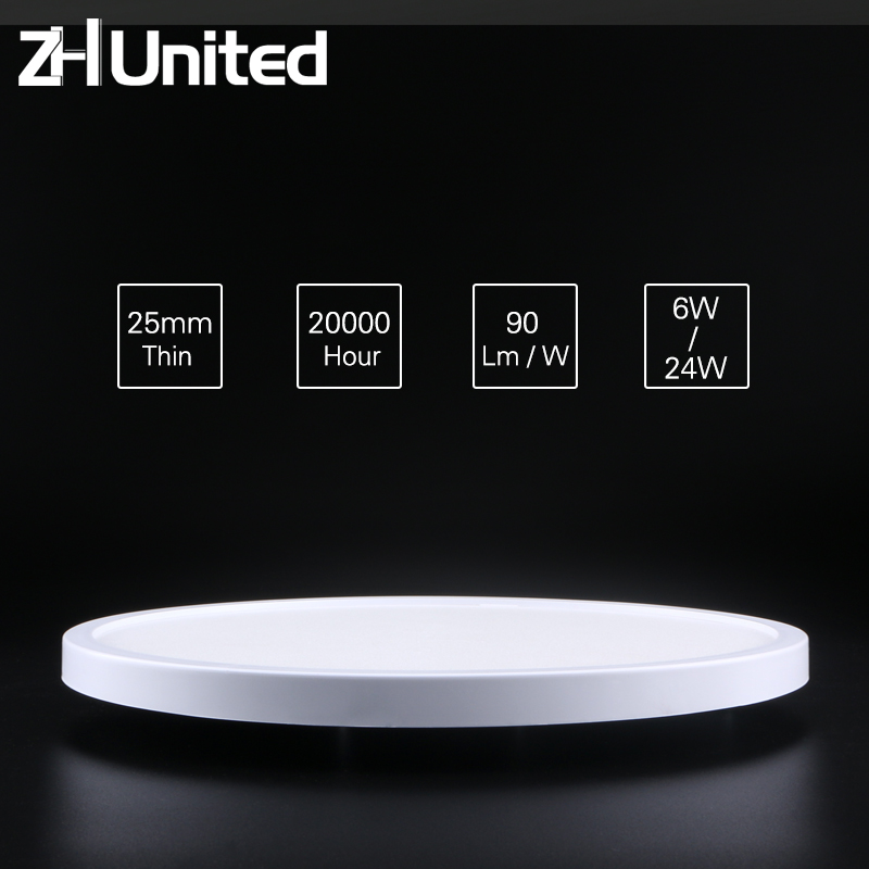 LED Circular Panel Light Surface Mounted Led Ceiling Light 6W 9W 13W 18W 24W AC85-265V 110V 220v Lampada Led Lamp