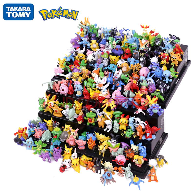 144Pcs Tomy Different Styles Pokemon Figures Model Collection 2-3cm Pokémon Pikachu Anime Figure Toys Dolls Child Birthday Gift 1